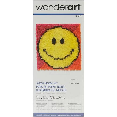Wonderart Latch Hook Kit 12 X12 - Smiley Face