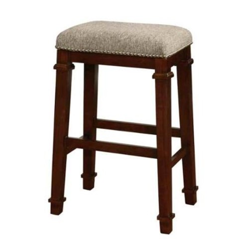Linon Kennedy Backless Bar Stool Walnut Finish, 30 inch Seat Height