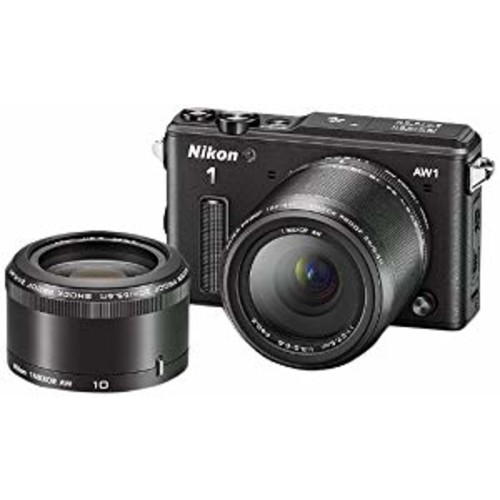 Nikon 1 AW1 14.2 MP HD Waterproof, Shockproof Digital Camera System with AW 11-27.5mm f/3.5-5.6 and AW 10mm 1 NIKKOR Lenses