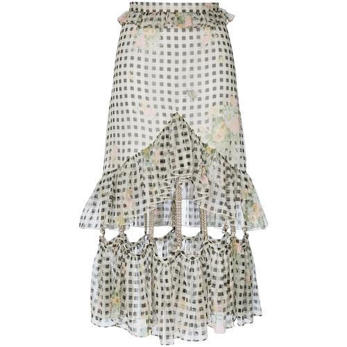 gingham chain skirt