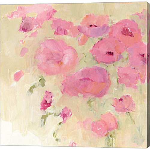 Floral Watercolor Crop Gallery Wrapped Canvas WallArt On Deep Stretch Bars