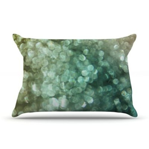 East Urban Home Debbra Obertanec 'Teal Sparkle' Glitter Pillow Case