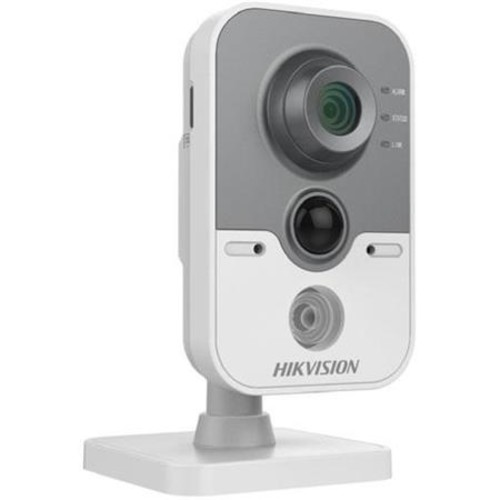 Hikvision IR Cube Network Camera DS-2CD2412F-IW - Network surveillance camera - outdoor - color (Day&Night) - 1.3 MP - 1280 x 960 - 720p - M12 mount - fixed focal - audio - wireless - Wi-Fi - LAN 10/1