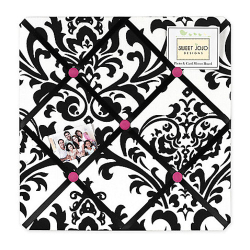 Sweet Jojo Designs Isabella Fabric Memo Board in Pink/Black/White
