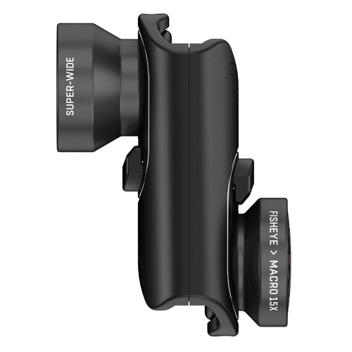 OLLOCLIP iPhone 7/8 and 7/8 Plus Black Core Lens Set