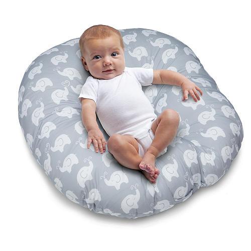 Boppy Newborn Lounger - Elephant Love Gray