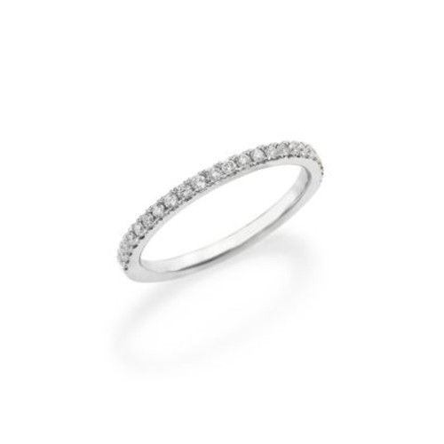 Classic Diamond & Platinum Eternity Half Band Ring