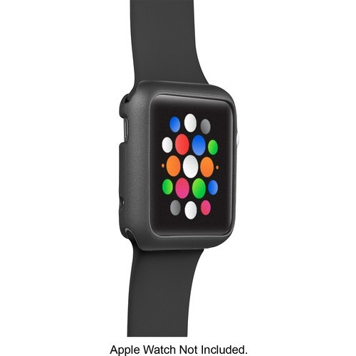 Insignia - Bumper Case for Apple Watch 38mm - Space Gray