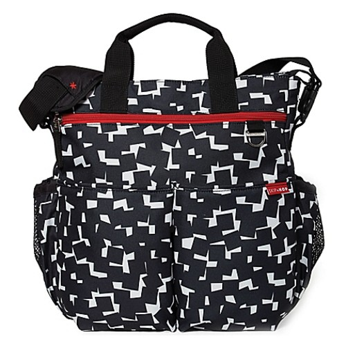 SKIP*HOP Duo Signature Diaper Bag in Black Cubes