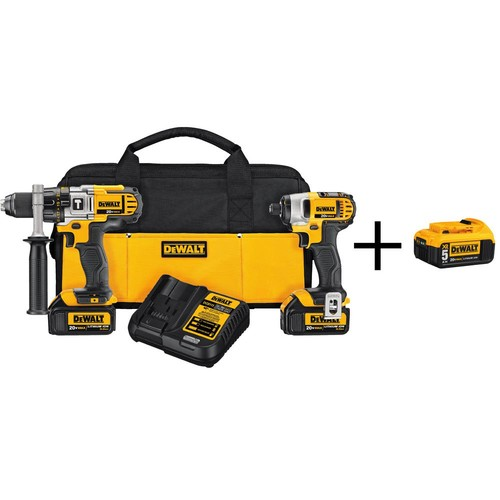 DEWALT 20-Volt MAX Lithium-Ion Cordless Hammer Drill/Impact Driver Combo Kit (2-Tool) with Bonus Battery Pack 5Ah