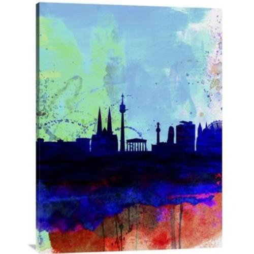 Naxart 'Vienna Watercolor Skyline' Graphic Art on Wrapped Canvas; 40'' H x 30'' W x 1.5'' D
