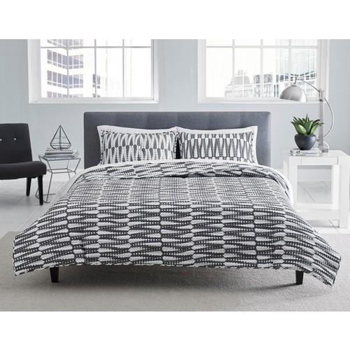 Quilt Set - Gray/White