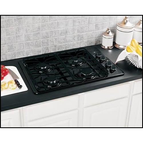 GE 30-Inch 4 Sealed Burner Built-In Gas Cooktop, Black [Black]