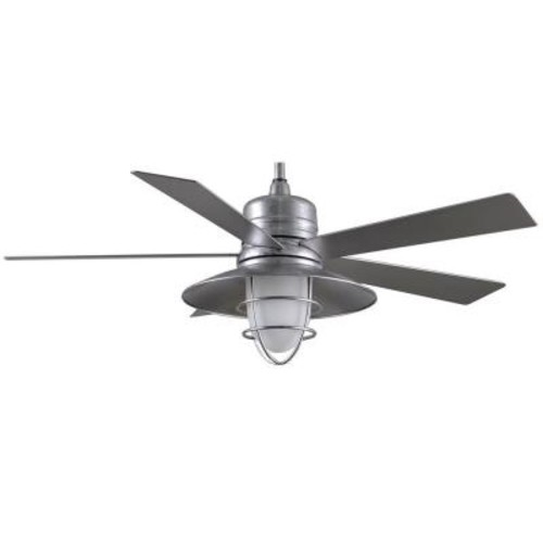 Home Decorators Collection Grayton 54 in. Indoor/Outdoor Galvanized Ceiling Fan with Light Kit and Remote Control