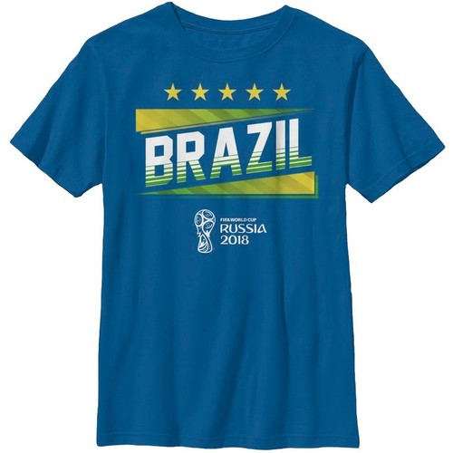 Fifth Sun Youth FIFA 2018 World Cup Russia Brazil Slanted Royal T-Shirt