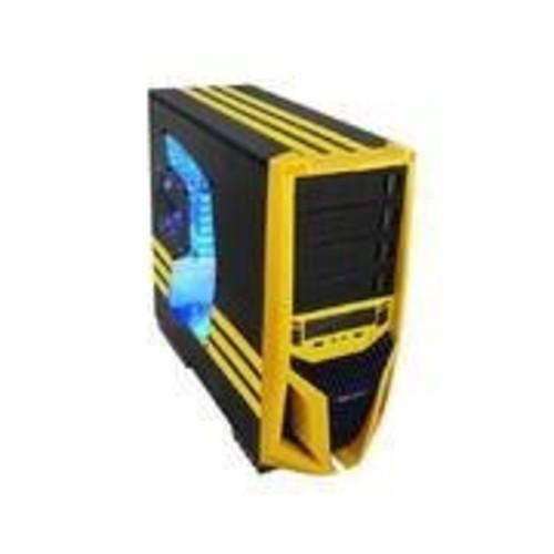 Raidmax No Power Supply ATX Mid Tower Case, Black/Yellow ATX-298WY