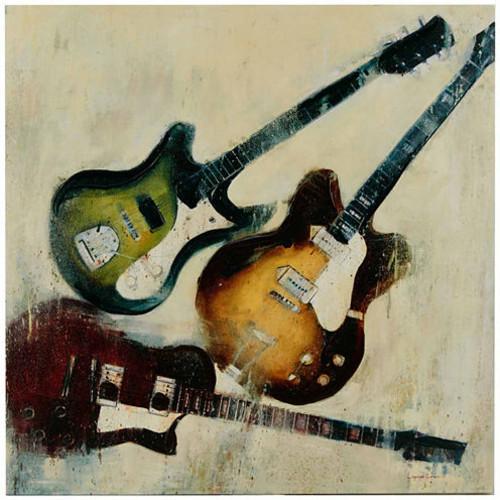 Madison Park 3 Guitars Gel Coat Canvas