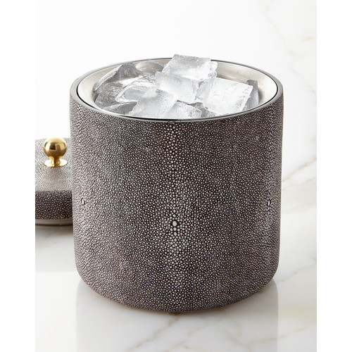 Shagreen Ice Bucket, Chocolate