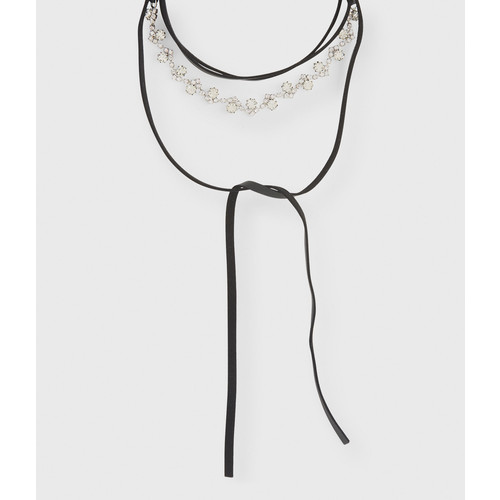 Rhinestone Choker Lariat Long-Strand Necklace