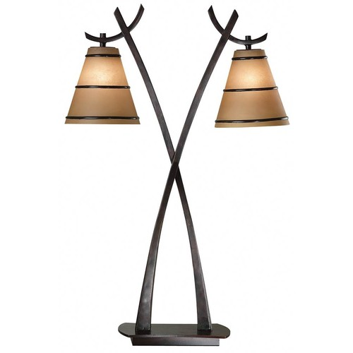 Kenroy Home Wright 2 Light Table Lamp in Oil Rubbed Bronze