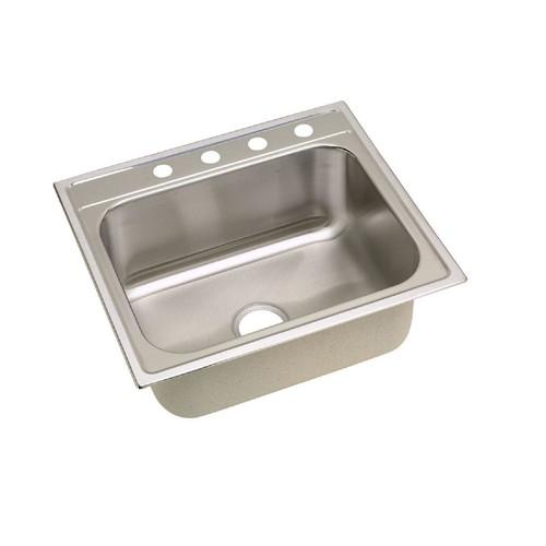 Elkay Dayton Drop-In Stainless Steel 25 in. 4-Hole Single Bowl Kitchen Sink