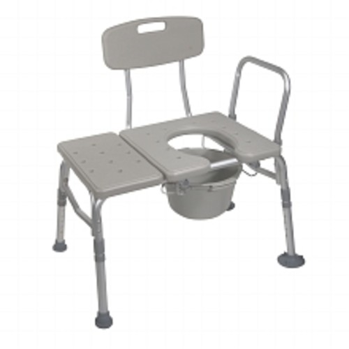 Drive Medical Combination Plastic Transfer Bench with Commode Opening