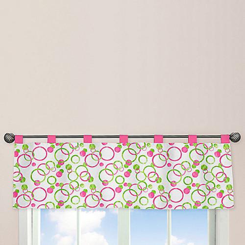 Sweet Jojo Designs Mod Circles Window Valance in Pink/Green
