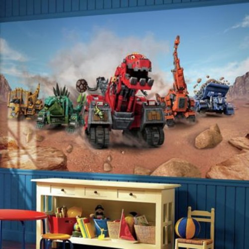 RoomMates Dinotrux XL Pre-Pasted Wall Mural