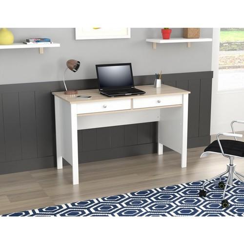 Inval America LLC Desks & Computer Tables Inval Laricina-White/ Beech Writing Desk