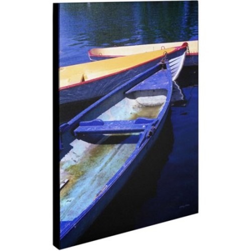 Bois de Boulogne Boats by Kathy Yates, 14x19-Inch Canvas Wall Art [14x19-Inch]
