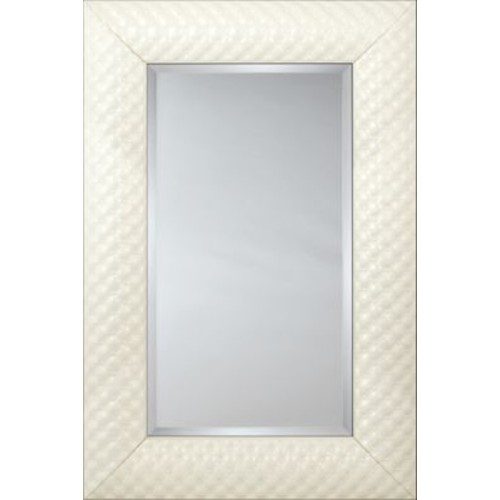 Mirror Image Home Mirror Style 81182 - White Quilted Cushion; 48.75 x 68.75