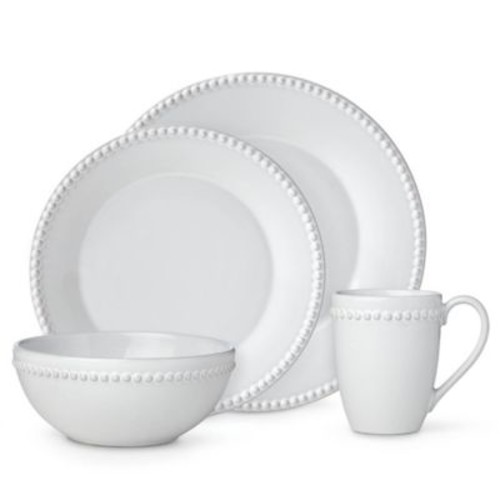 Lenox French Carved Pearl 4-Piece Place Setting in White