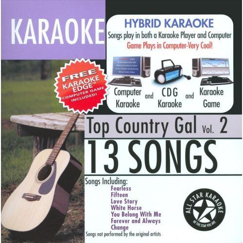 Karaoke: Top Country Gal with Karaoke Edge [CD]