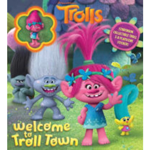DreamWorks Trolls: Welcome to Troll Town: Storybook with Poppy Collectible