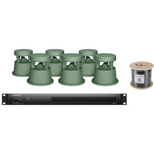 Bose Outdoor Sound System Amplifier, six in-ground commercial speakers, and burial-rated wire