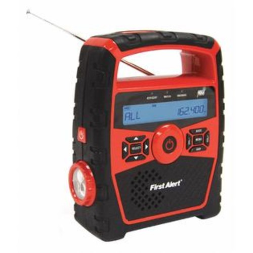 First Alert Spectra Merchandising International SFA1180 First Alert Portable Weather Radio, Black, AM/FM, NOAA Black SFA1180