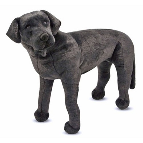 Melissa & Doug Giant Black Lab - Lifelike Stuffed Animal Dog (over 2 feet tall)