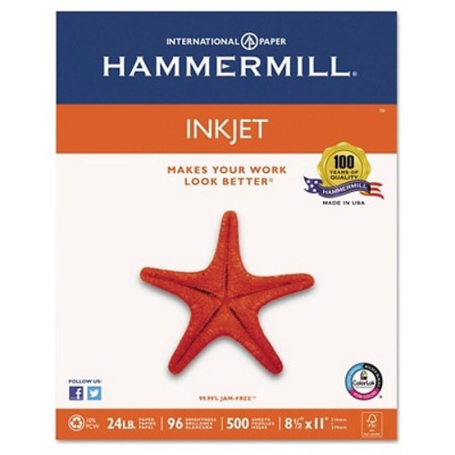 Hammermill Ink Jet Paper for Color/Monochrome Printers, 8-1/2x11, 500 Sheets/Ream (HAM105050)