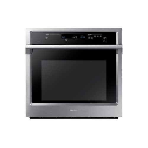 Samsung 30 in. Single Electric Wall Oven Self-Cleaning with Dual Convection in Stainless