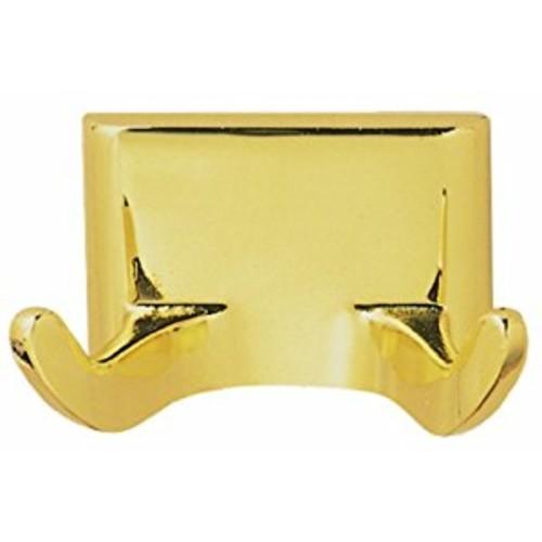 Design House 533307 Millbridge Double Robe Hook, Polished Brass [Polished Brass]