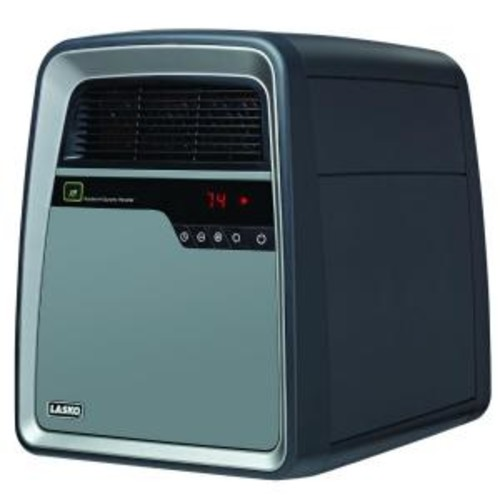 Lasko 1500-Watt Electric Portable Cool-Touch Infrared Quartz Heater with Remote Control