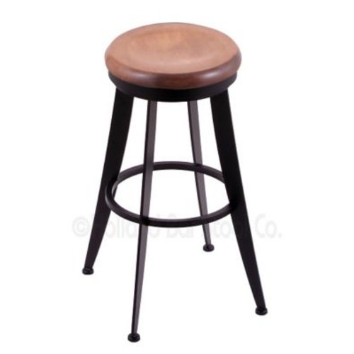 Holland Bar Stool Laser 25'' Swivel Bar Stool; Medium Maple