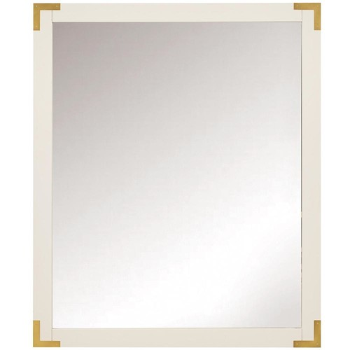 Home Decorators Collection Chatham 36 in. H x 30 in. W Single Framed Mirror in White