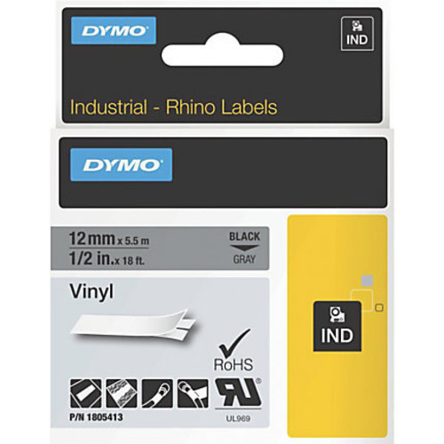 DYMO Black on Gray Color Coded Labels, LJ7435