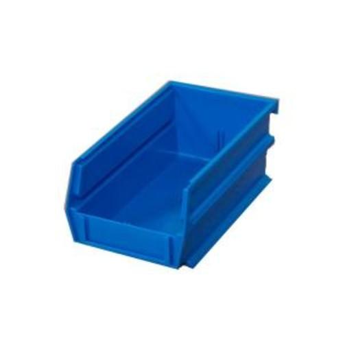 LocBin .301-Gal. Stacking, Hanging, Interlocking Polypropylene Storage Bins in Blue (24-Pack)