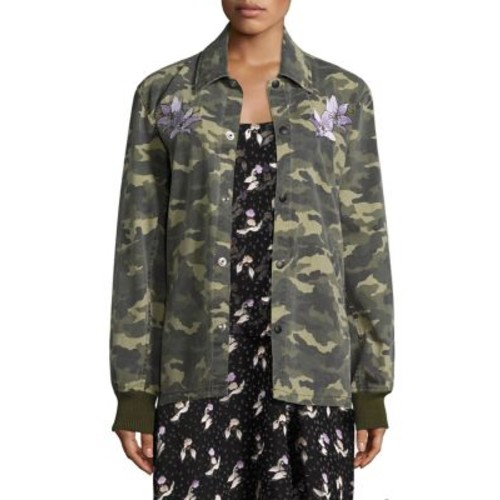 OPENING CEREMONY Camouflage Coach Cotton Jacket