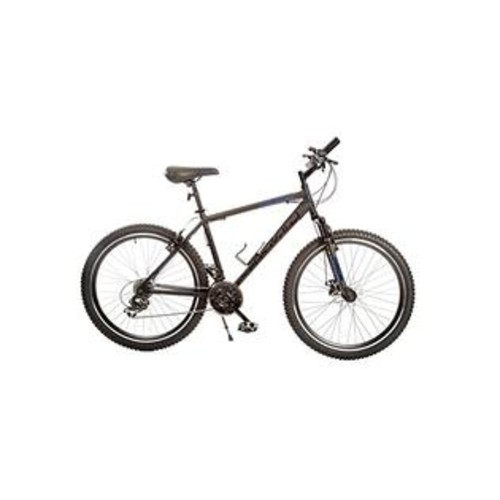 TITAN Dark Knight Aluminum Suspension Men's Mountain Bike with Disc Brake, Matte Black, 21-Speed
