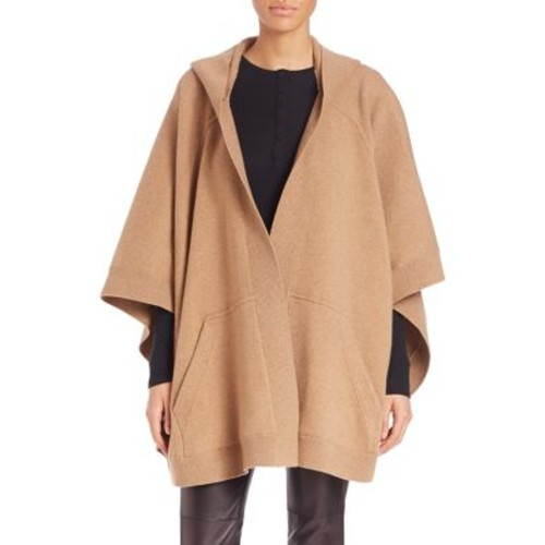 BURBERRY Wool-Cashmere Blend Hooded Poncho