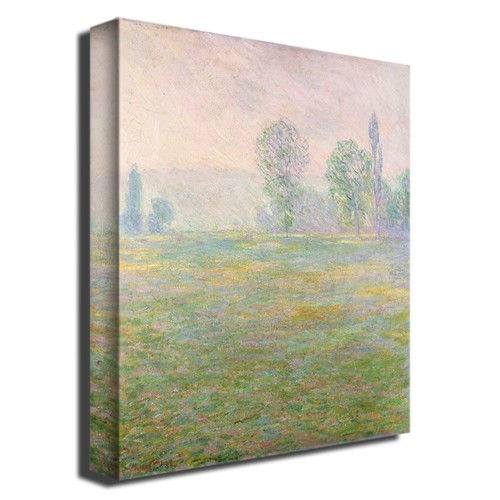 35x47 inches Claude Monet, 'Meadows in Givernyu0026#44; 1885' Canvas Art
