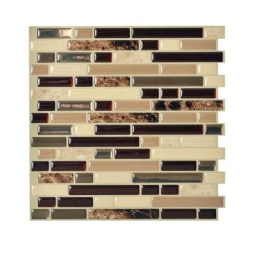 Smart Tiles Bellagio Keystone 10.06 in. W x 10 in. H Peel and Stick Self-Adhesive Decorative Mosaic Wall Tile Backsplash (12-Pack)